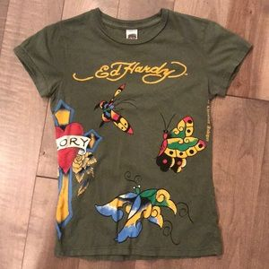Tops - Green Ed Hardy Tee